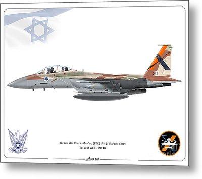 Israeli Air Force F 15i Ra'am - Ftc Metal Print