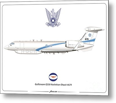 Israeli Air Force Gulfstream G550 #679 Metal Print by Amos Dor