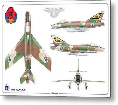 Israeli Air Force Iai Super Mystere Sa'ar Metal Print by Amos Dor