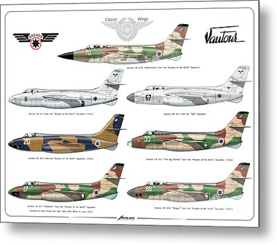 Israeli Air Force Sncaso Voutours Metal Print by Amos Dor