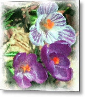 Ist Flowers In The Garden 2010 Metal Print by David Lane