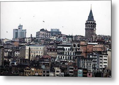 Istanbul Buildings Metal Print by John Rizzuto