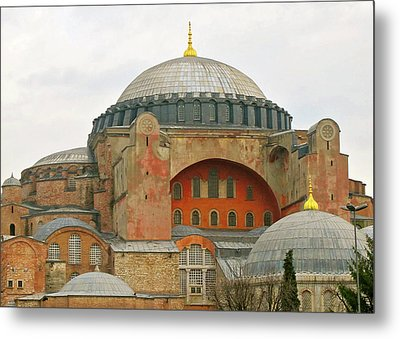 Metal Print featuring the photograph Istanbul Dome by Munir Alawi