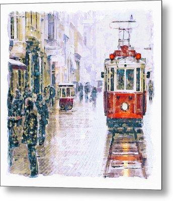 Istanbul Nostalgic Tramway Metal Print by Marian Voicu