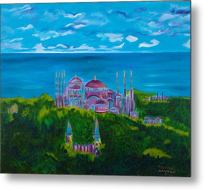 Istanbul Skyline Metal Print by Dani Altieri Marinucci