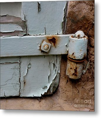 It All Hinges On Metal Print by Lainie Wrightson
