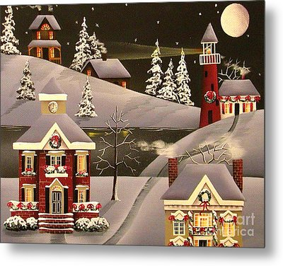 It Came Upon A Midnight Clear Metal Print by Catherine Holman