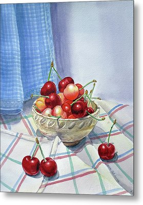It Is Raining Cherries Metal Print