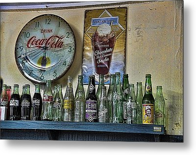 It Was Time For A Drink Metal Print by Jan Amiss Photography