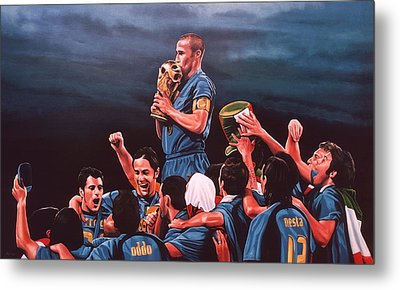 Italia The Blues Metal Print
