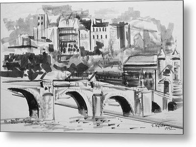 Italian Bridge Metal Print by John Keaton