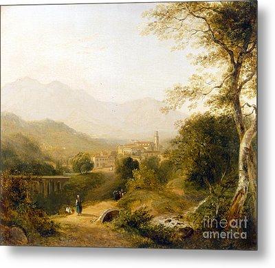 Italian Landscape Metal Print by Joseph William Allen