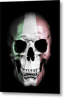 Metal Print featuring the digital art Italian Skull by Nicklas Gustafsson