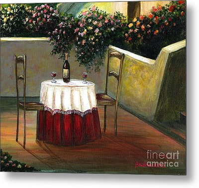 Italian Table Metal Print