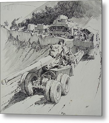 Metal Print featuring the drawing Italy 1943. by Mike Jeffries