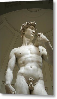 Italy, Florence, Statue Of David Metal Print by Sisse Brimberg & Cotton Coulson