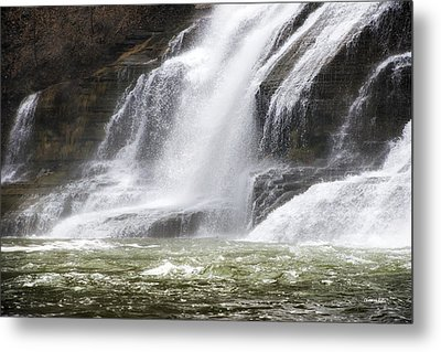 Ithaca Falls On Fall Creek - Mountain Showers Metal Print by Christina Rollo