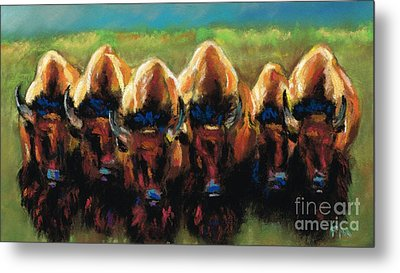 Its All Bull Metal Print by Frances Marino