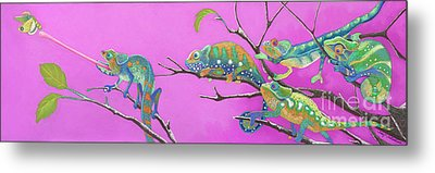 Its All Just An Illusion Metal Print by Tracy L Teeter