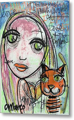 It's Amazing How Much I Love My Cat Metal Print by Laurie Maves ART