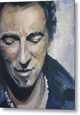 It's Boss Time II - Bruce Springsteen Portrait Metal Print by Khairzul MG
