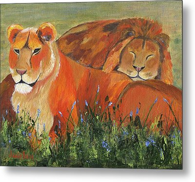 Metal Print featuring the painting It's Good To Be King by Jamie Frier