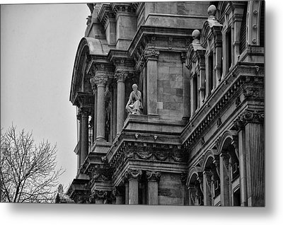 It's In The Details - Philadelphia City Hall Metal Print by Bill Cannon