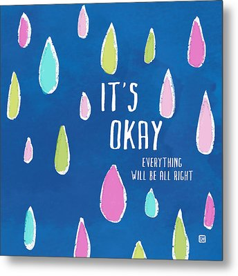 Metal Print featuring the painting It's Okay by Lisa Weedn