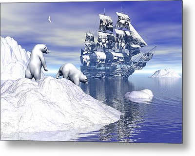 Its Really Cold Metal Print by Claude McCoy