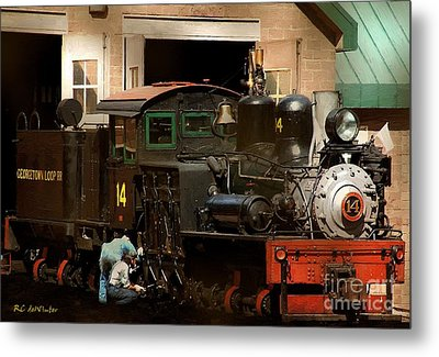 I've Been Working On The Railroad Metal Print by RC DeWinter
