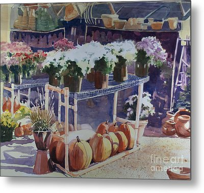 Metal Print featuring the painting Ivy Corners by Elizabeth Carr