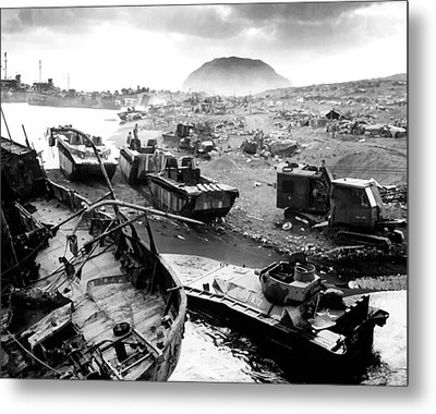 Iwo Jima Beach Metal Print by War Is Hell Store