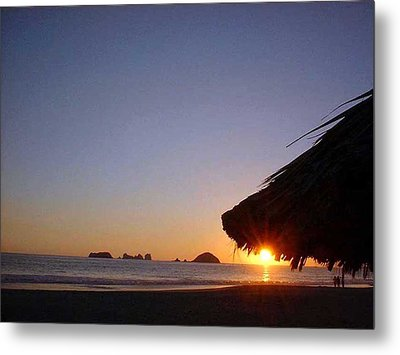 Metal Print featuring the photograph Ixtapa Sunset by Jack G  Brauer