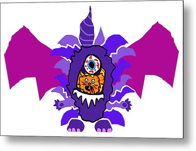 Izzy Purple People Eater Costume Metal Print by Jera Sky