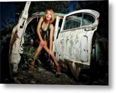 Izzy's Buick Metal Print by Jerry Golab