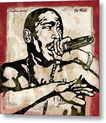 Ja Rule Pop Stylised Art Sketch Poster Metal Print