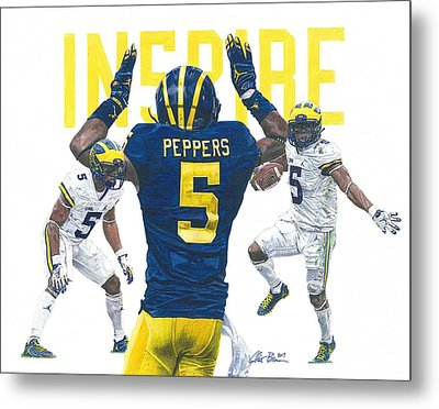 Jabrill Peppers Metal Print