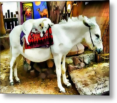 Metal Print featuring the photograph Jack And Jill by Kathy Tarochione