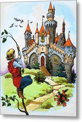 Jack And The Beanstalk Metal Print by English School
