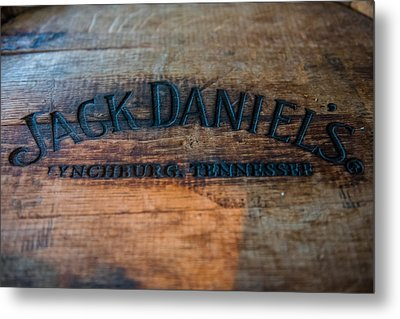 Jack Daniels Oak Barrel Metal Print