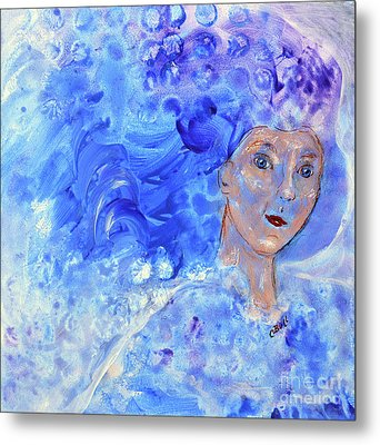 Metal Print featuring the painting Jack Frost's Girl by Claire Bull