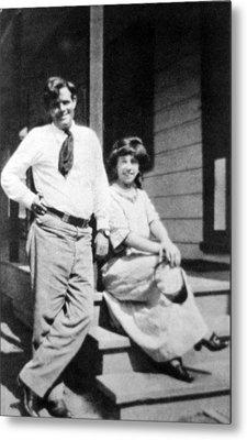 Jack London 1876-1916, American Author Metal Print by Everett