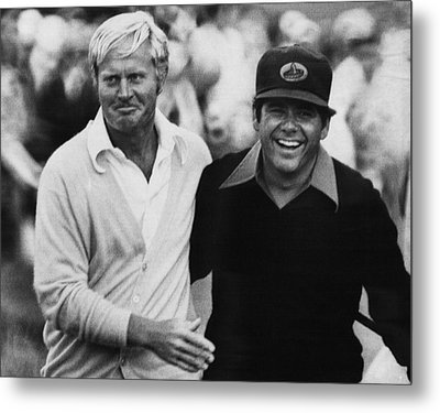 Jack Nicklaus, Lee Trevino, At The U.s Metal Print by Everett
