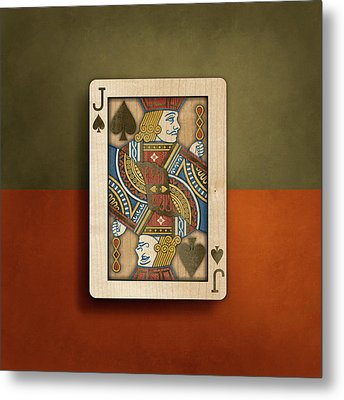 Metal Print featuring the photograph Jack Of Spades In Wood by YoPedro