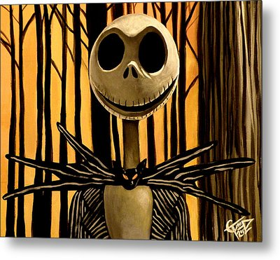 Jack Skelington Metal Print by Tom Carlton