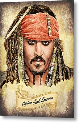 Jack Sparrow Colour 1 Metal Print by Andrew Read