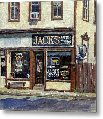Jack's Hot Dogs North Adams Metal Print by Thor Wickstrom