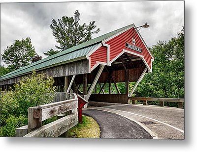 Jackson Covered Bridge Metal Print by Betty Denise