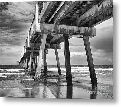Jacksonville Beach Florida Usa Pier Metal Print