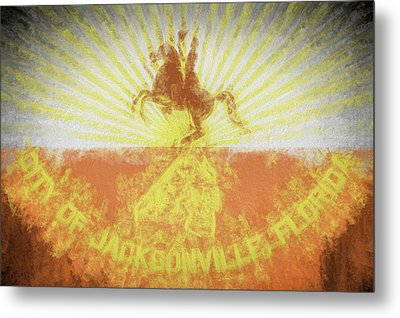 Metal Print featuring the digital art Jacksonville City Flag by JC Findley